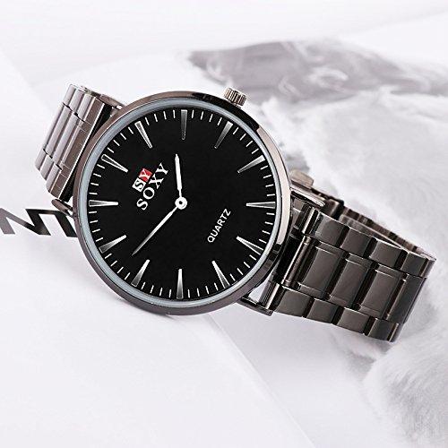 SJXIN Orologio Da Polso SOXY Men's Steel Belt Watch Quartz Watch Table (Color : 2)