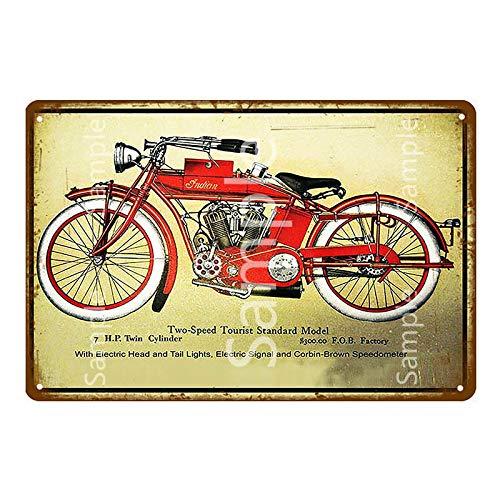 Retro motocicleta Metal cartel de chapa Bar café garaje placa de hierro cartel hogar pared pegatina decoración 20x30 cm YD14474K