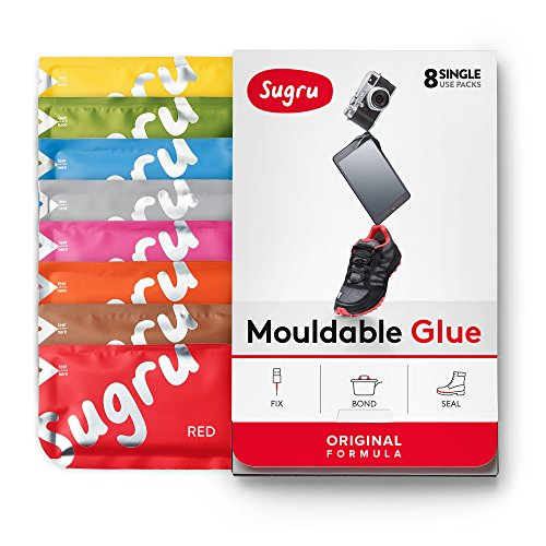 Sugru Moldable Glue  Original Formula  AllPurpose Adhesive Advanced Silicone Technology  Holds up to 44 lb  New Colors 8Pack