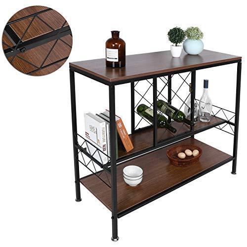 Omabeta Estante de almacenamiento de vino multifunción de 3 capas para vino montado en la pared, moderno colgante de diseño simple para el hogar, sala de estar, bar