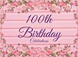 "100th Birthday Celebrations: Pink Floral Guest Book For Milestone Birthday | Message Book | Keepsake | For Dad, Granddad, Great Grandad, ... x 6"" Softback Cover (Updated Celebration)"