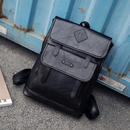PU Leather Bag, Leisure Tablet Laptop Backpack, Travel Student School Bag, Largecapacity Computer Bag for Going Out