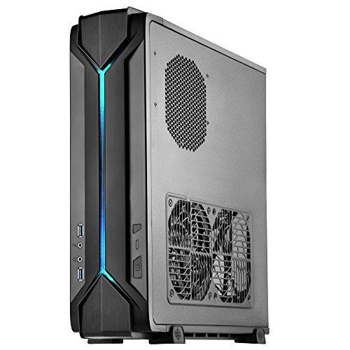 SilverStone SST-RVZ03B - Raven Mini-ITX Gaming Computer Gehäuse, RGB, schwarz