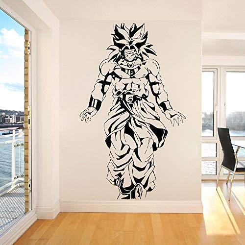 Cartoon Animation Wall Sticker Dragon Ball z Broly Anime Japanese Wall Stickers Vinyl Home Boys Room Decoration Wallpaper 73x42CM