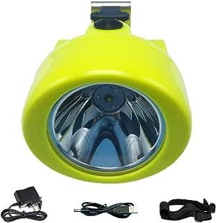 ACMENOVO LED Rechargeable Headlamp, Waterproof Flashlight Adjustable Headlight CREE 10000Lux Head Light 3000mAh Battery Lighting Portable Miner Cap Lamp for Hard Hat Hunting Fishing Mining