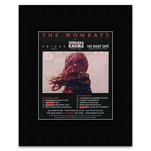 NME WOMBATS - wrzesień - październik 2015 Tour UK Mini plakat - 13,5 x 10 cm