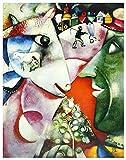 Marc Chagall Poster Kunstdruck Bild I and The Village