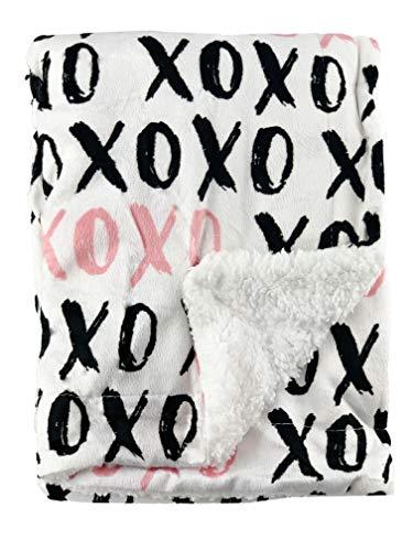 OXO Design – Couverture polaire douce pour nouveau-né avec dos en fourrure – Idéal pour les voyages (siège auto), landau/poussette, berceau, couffin