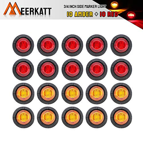 10x 6 Led Yellow Side Marker Light Lamp For Transporter Truck Trailer Lorry 12v