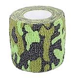 Artistry Tattoo Cohesive Grip elástico vendajes, Grip Cover Wrap Pack de 6 (Verde militar)