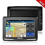 GPS Voiture Auto, Hieha 5 Pouce GPS Navigateur Automatique 8GB, Appareil de Navigation HD Écran Tactile Multi-Languages Cartographie Europe Mise à Jour Gratuite à Vie