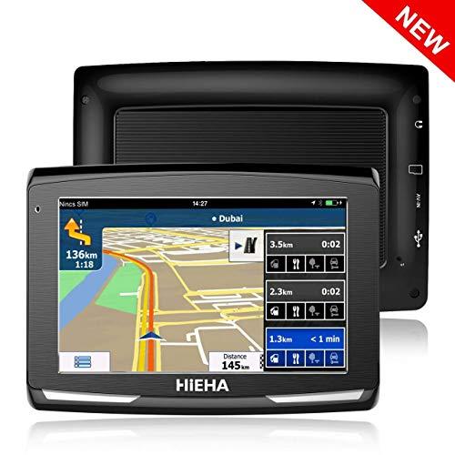 GPS Voiture Auto, Hieha 5 Pouce GPS Navigateur Automatique...