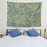 Tapiz de planta tropical patrón de hoja colgante de pared mandala girasol artista decoración del hogar dormitorio telón de fondo tela A8 180x200cm