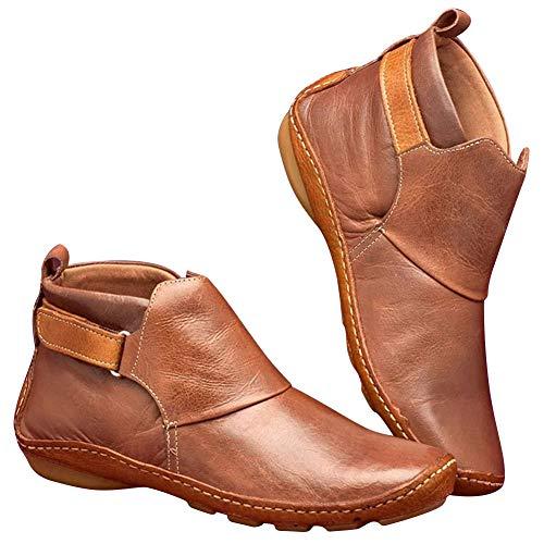Icepeach lederen enkellaarzen herfst vintage vrouwen schoenen comfortabele platte hak laarzen korte laarzen