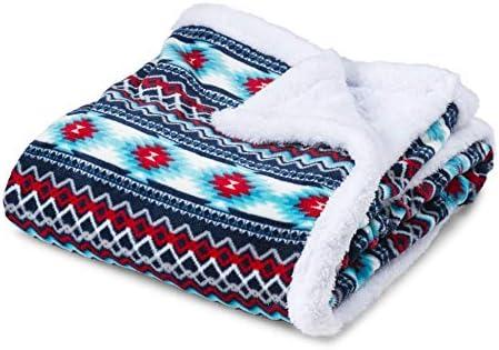 Trailcrest Ultra Soft Sherpa Fleece Throw Blanket Cozy Plush Adult Blanket for Men Women Reversible product image