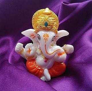 Karigaari India Lord Ganesha Statues Ganesh Ganpati Beautiful Car Dashboard Idol Figurine Showpiece Sculpture Hindu Good L...