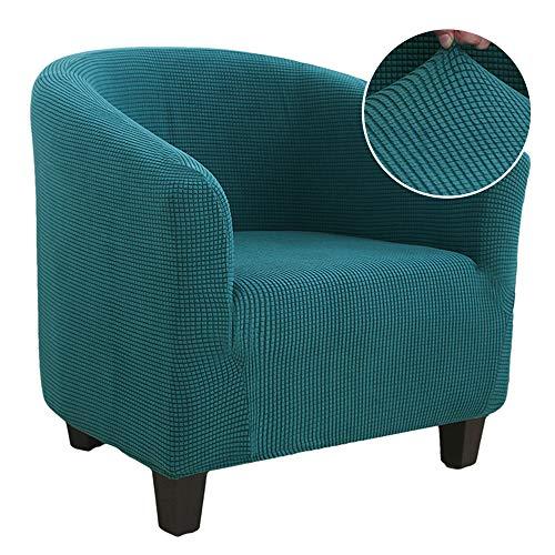 Vertvie - Copridivano elasticizzato jacquard Tub Chair convertibile Chesterfield, lavabile, Slipcover protettivo per poltrona elastico