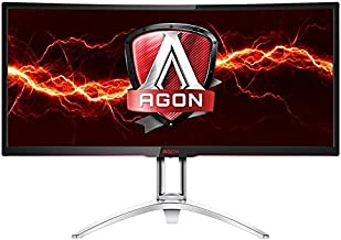 "AOC Agon AG352UCG 35"" Curved Gaming Monitor, G-SYNC, WQHD (3440x1440), VA Panel, 100Hz, 4ms, Height Adjustable, DisplayPor..."