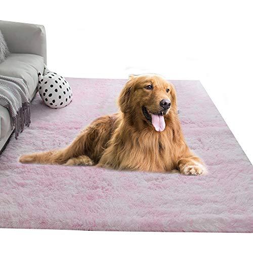 Vejaoo Manta Invierno Super Soft Termica Lavable Suaves y Cálidas Camas de Cama de Cachorro casa Gatos Perros Mantas Suaves XZ005 (120 * 160CM, Light Pink)