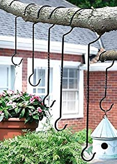 Plant Hooks Hanging Potted Plants Flower Seeds Container Outdoor Metal Plant Pot Hanger Hook Black Garden Yard Decor Different Sizes 1 Set 6 Pcs Plant Hooks Hanging Potted Plants Flower Seeds Containe