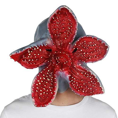 Ginkago Máscara de Látex, Demogorgons Halloween Mask Máscara de Terror de Scary Masks Disfraces de Payaso de Fiesta de Halloween