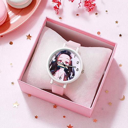 SANDA Relojes De Pulsera para Niños,Mira el Reloj Reloj Moda Estudiante Ver la luz de la Noche Masculina-Rosa