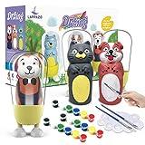 Pintura kit Colorear para Niños Figuras de Yeso de Animales DIY Manualidad Creativo Educativo Juguetes para niños Dibujo Graffiti Kit Pintar Juegos Regalos