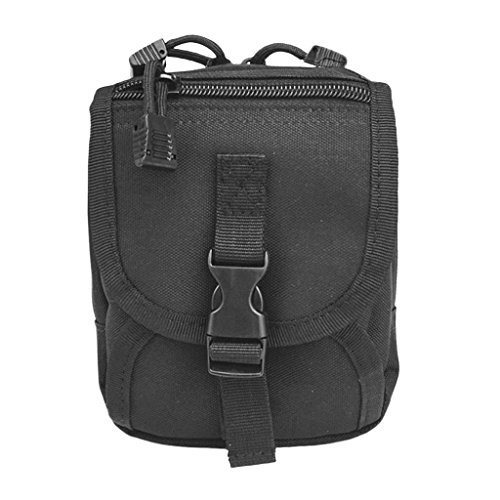 FLAMEER Utility MOLLE Gadget Pouch Bag/Spare Scuba Schnorcheln Gewicht Gürtel Tasche - YF05 Schwarz