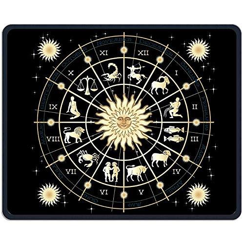 Muismat koel sterrenbeeld kunst liefde rubber muismat 30 * 25 * 0,3 cm Gaming muismat met zwart slot rand