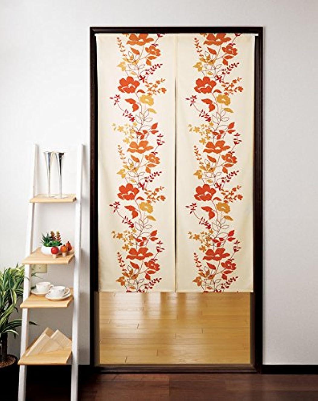 テメリティ資産そのようなTortoise暖簾( Japaneseカーテン)ブラウンシャドウの花から日本21619
