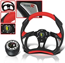 Acura Integra 320mm Steering Wheel with Hub Adapter and Horn Button Red