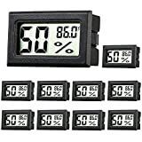 Best Hygrometers - Rojuna 10-Pack Mini Thermometer Hygrometer, Small Digital Electronic Review