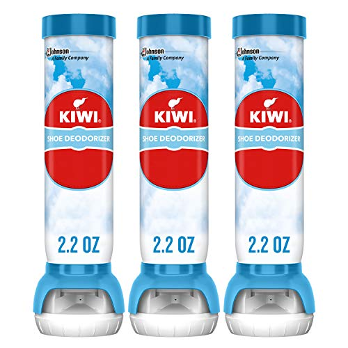 KIWI Sneaker and Shoe Deodorizer, for Shoes, Sneakers, Leather and More, Spray Bottle, 2.2 Oz, Pack of 3
