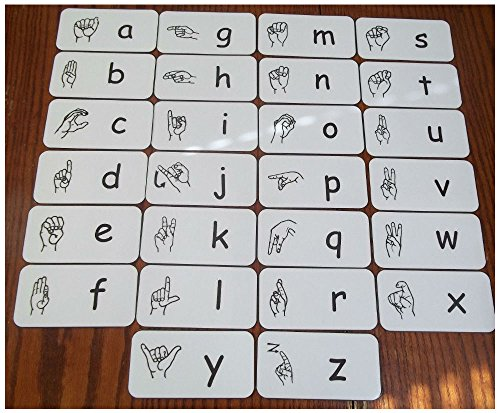 Unbranded 26 Full Size American Sign Language Alphabet Cards. Learn and teach sign langua