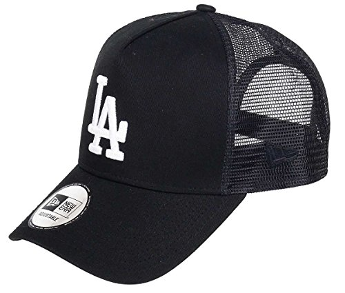 New Era Los Angeles Dodgers A Frame Trucker Cap Black White Edition Black - One-Size