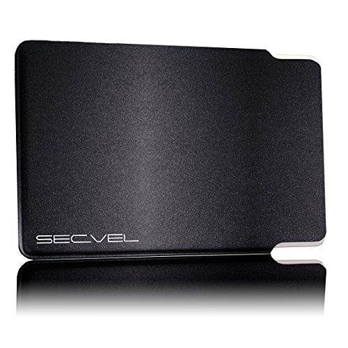 TÜV geprüfte und patentierte Schutzhülle 5-Fach Kartenschutz - Graphite | RFID NFC Blocker | Magnetfeld Abschirmung | Störsender für Kreditkarte, EC Karte, Personalausweis | 100% Aktiv Schutz