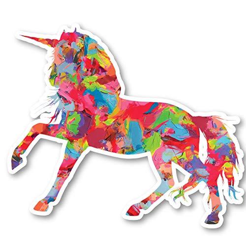 Unicorn Sticker Watercolor Paint Stickers - Laptop Stickers - 2.5' Vinyl Decal - Laptop, Phone, Tablet Vinyl Decal Sticker S1231