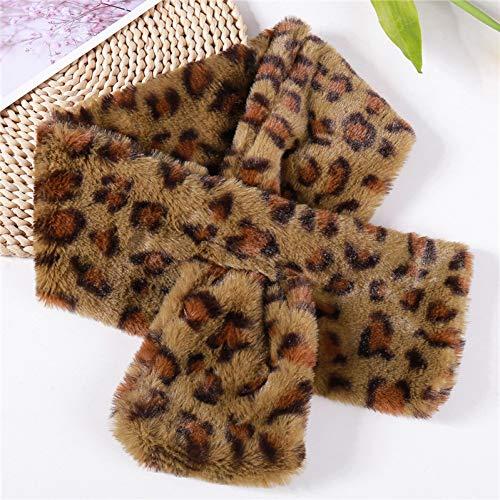 MYTJG Lady sjaal Mode Dames Herfst En Winter Warm Sjaal Winter Warm Sjaal Luipaard Ring Sjaal