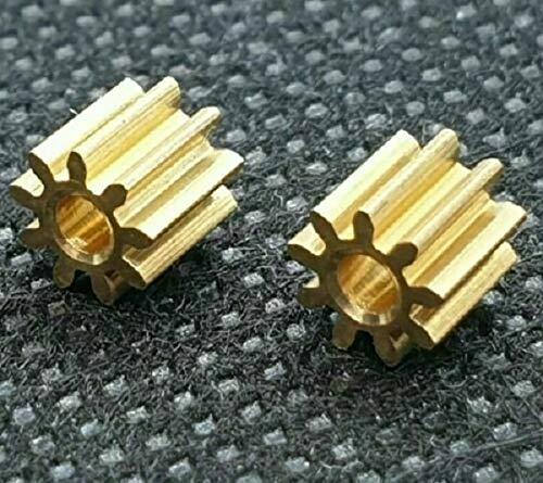 2x Ersatz Ritzel Zahnrad Messing für Lego Duplo Intelli Lok Lokomotive Rutschkupplung Hinterachse 9 Zähne M 0,4