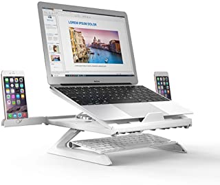 Laptop Stand 9 Angles Adjustable Desktop Standing Lapdesk Smartphone/Notebook Riser Holder for MacBook Air Pro Up to 17''