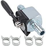 Savior 07-403 Fuel Shut Off Valve for Scagg 48568 Oregon 07-403 180 Degree Ball Valve Heavy Duty Inline Cut Petcock Gas Diesel Petrol for 1/4' Fuel Line Lawn Mower Replacement Part