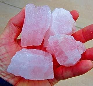 ROSE QUARTZ * 1/2 Lb Lot of Medium Size Stones * Pink Quartz Crystal Mineral Specimens - Natural Rose Quartz Tumbling, Cutting, Bead, Facet Rough from Brazil by GeoSpecimens
