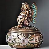 Joyero del ángel, organizador del almacenaje de la caja cofre del tesoro baratija de metal, antiguo titular Resina baratija de la caja / anillo pendientes / collares, cajas de joyas de regalo Decoraci