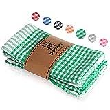 pamuq® paños de cocina de algodón 100%   paquete de 5   45 x 65 cm a cuadros   con colgador   diferentes colores   trapos de cocina   toallas de cocina