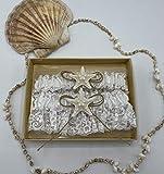 Starfish Keep & Toss Garter Set - Beach Hawaiian Wedding Lace Nautical bride bridal gift present engagement