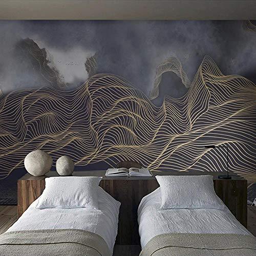 VGFGI Foto pintura de pared 3D nuevo estilo chino paisaje abstracto paisaje estudio arte pintura de pared sala de estar dormitorio-480cm(W) x290cm(H)