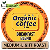 The Organic Coffee Co. Breakfast Blend 80 Ct Medium Light Roast Compostable Coffee Pods, K Cup Compatible including Keurig 2.0
