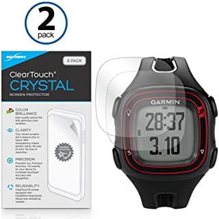 Garmin Forerunner 15 Black/Red Screen Protector, BoxWave [ClearTouch Crystal (2-Pack)] HD Film Skin - Shields From Scratches for Garmin Forerunner 15 Black/Red