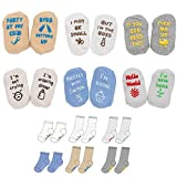 Baby Socks Gift Set, Shower Gifts Newborn Funny Present, 6 Pair, For 0-12 Months (unisex)
