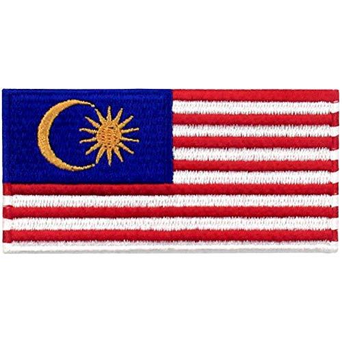 Malaysia Flagge Bestickter Aufnäher zum Aufbügeln/Annähen